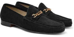 Tom Ford York Chain-Trimmed Suede Loafers
