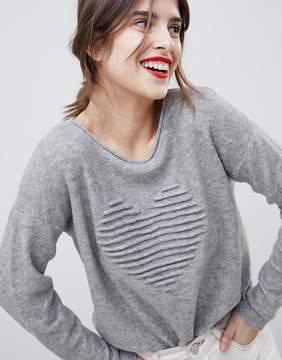 Esprit Heart Embossed Sweater
