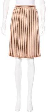 Cacharel Stripe Print Pleated Skirt