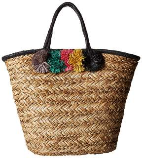 San Diego Hat Company BSB1714 Pom Seagrass Tote Tote Handbags
