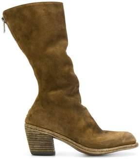 Guidi block heel calf boots