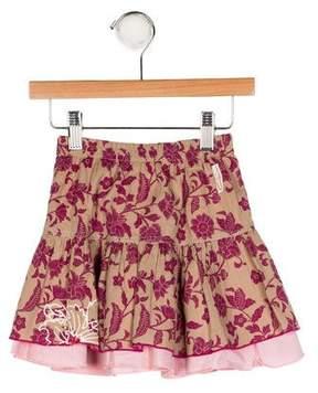 Catimini Girls' Printed Embroidered Skirt
