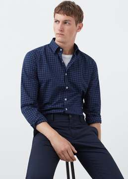 Mango Outlet Slim-fit checked cotton shirt