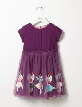 Boden Velvet Tulle Dress