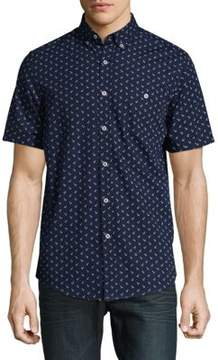 Report Collection Cotton Casual Button Down Shirt