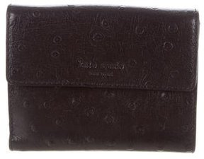 Kate Spade Leather Compact Wallet - BLACK - STYLE