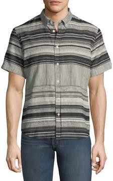 Billy Reid Murphy Striped Short-Sleeve Sport Shirt