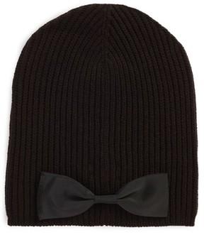 Kate Spade Women's Grosgrain Bow Knit Beanie - Black