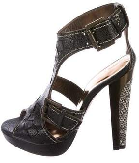 Barbara Bui Leather Cage Sandals