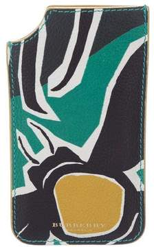Burberry Printed Leather Phone Case
