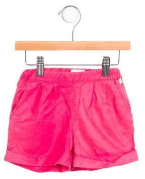 Armani Junior Girls' Cuffed Mid-Rise Shorts