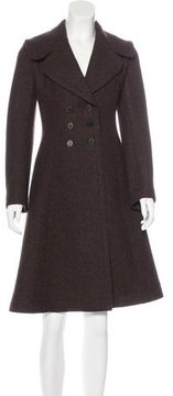Alaia Wool-Blend Double-Breasted Coat