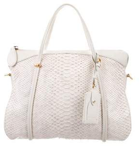 Nina Ricci Leather Trim Python Satchel