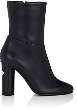 Anya Hindmarch WOMEN'S EYE-PRINT LEATHER ANKLE BOOTS