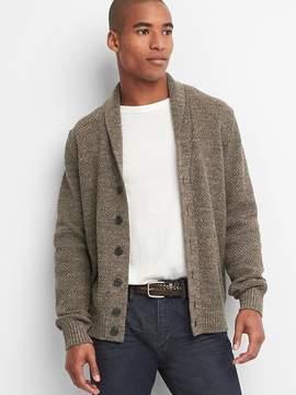 Gap Textured shawl-collar cardigan