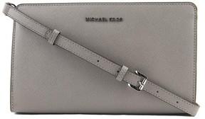 MICHAEL Michael Kors Jet Set Large Crossbody Clutch Women Gray - PEARL GREY - STYLE