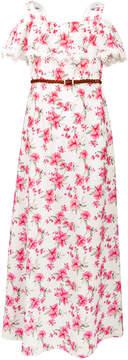 Us Angels Big Girls Floral-Print Maxi Dress