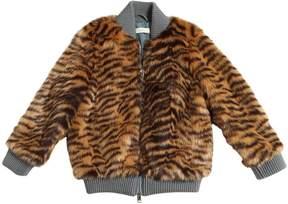 Stella McCartney Tiger Faux Fur Bomber Jacket