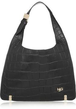 Givenchy House De Small Croc-Effect Leather Shoulder Bag