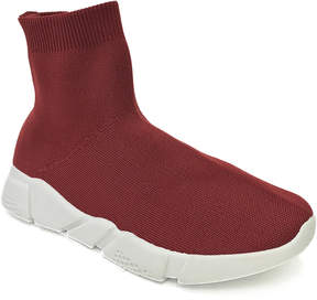 Bamboo Burgundy Flight Slip-On Hi-Top Sneaker