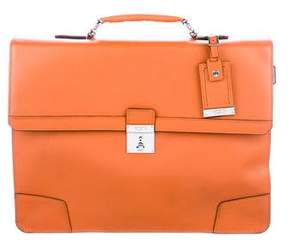 Tumi Textured Leather Briefcase