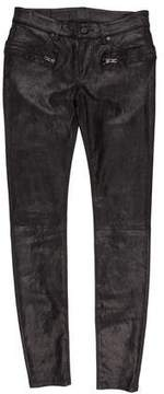 RtA Denim Suede Mid-Rise Pants w/ Tags