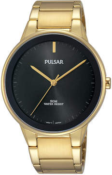 Pulsar Men's Solar Gold-Tone Stainless Steel Bracelet Watch 40mm PG2046