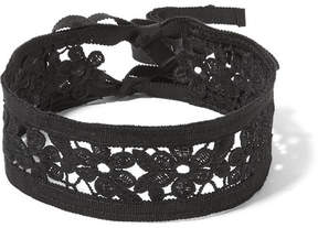 Anna Sui Guipure Lace And Grosgrain Choker - Black
