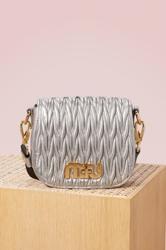 Miu Miu Matelassé leather bag