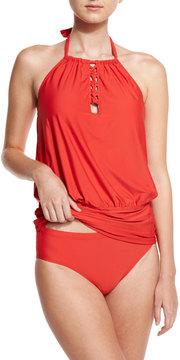 Athena Cabana Solids Cailyn Halter Tankini Swim Top