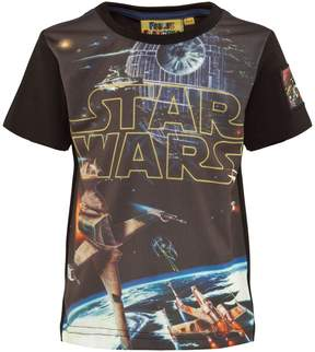 Star Wars Fabric Flavours Black Logo Spacescape Tee