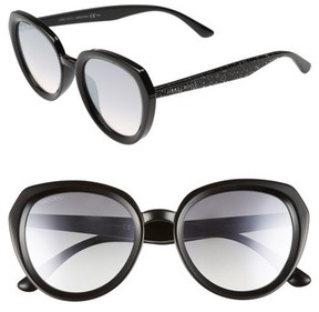 Jimmy Choo Women's Maces 53Mm Oversize Sunglasses - Black Glitter