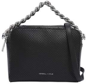 KENDALL + KYLIE Lucy Snake Printed Leather Shoulder Bag