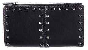 Michael Kors Embellished Leather Wallet - BLACK - STYLE