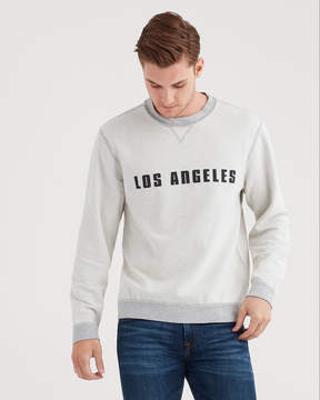 7 For All Mankind Reversible Crewneck Sweatshirt In Heather Grey