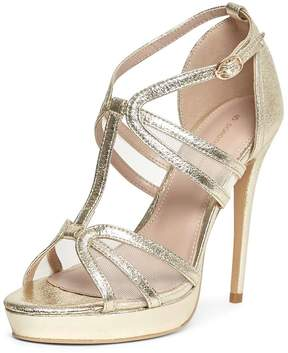 Dorothy Perkins Gold 'Beverly' T-Bar Sandals
