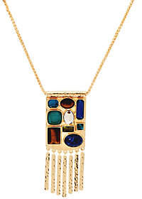 C. Wonder 30 Wheat Chain Multi-Stone StationNecklace