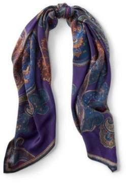 Ralph Lauren Lena Paisley Silk Scarf Purple One Size