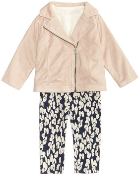 First Impressions 3-Pc. Faux-Suede Jacket, T-Shirt & Leggings Set, Baby Girls (0-24 months), Created for Macy's