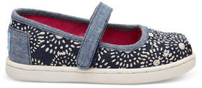 Toms Navy Shibori Dots Ballet Pumps