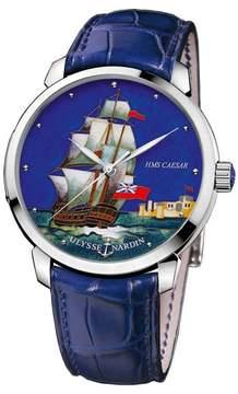 Ulysse Nardin Classico Caesar Enamel Cloisonne Dial Alligator Leather Automatic Men's Watch