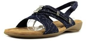Minnetonka Silvie Women Open-toe Canvas Slingback Sandal.