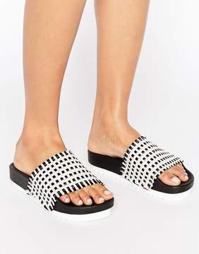 Sixty Seven SixtySeven Multi Raffia Slide Flat Sandals