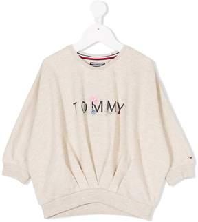 Tommy Hilfiger Junior floral logo embroidered sweatshirt