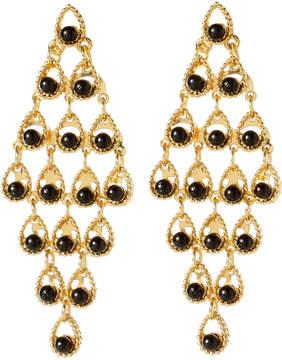 Amrita Singh Goldtone & Black Geneve Drop Earrings