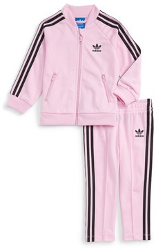 adidas Infant Girl's Track Jacket & Athletic Pants Set