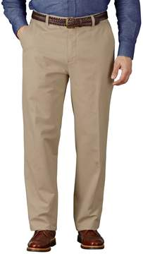 Charles Tyrwhitt Stone Classic Fit Flat Front Weekend Cotton Chino Pants Size W32 L32