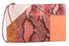 Stella McCartney Embossed Leather Clutch
