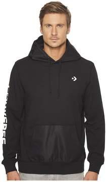 Converse Mixed Media Pullover Hoodie Men's Sweatshirt
