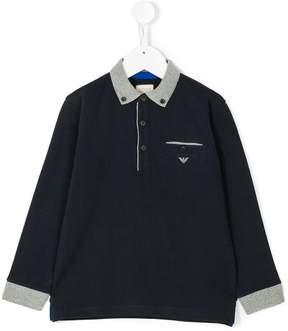 Emporio Armani Kids long sleeve polo shirt
